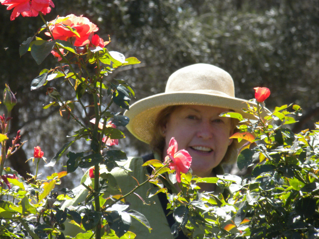 Susan with Roses