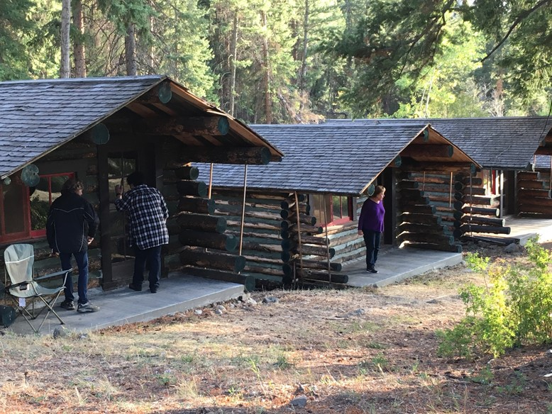 Checking out the Cabins
